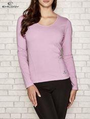 Jasnofioletowa bluzka sportowa z dekoltem V