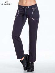 Jasnogranatowe spodnie dresowe z siateczką