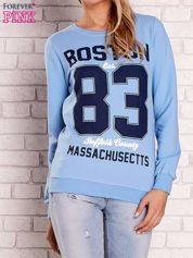 Jasnoniebieska bluza z napisem BOSTON 83