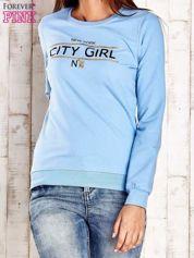 Jasnoniebieska bluza z napisem CITY GIRL