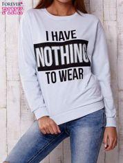 Jasnoniebieska bluza z napisem I HAVE NOTHING TO WEAR