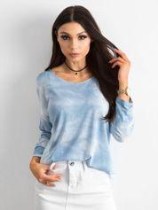 Jasnoniebieska bluzka damska z długim rękawem