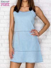 Jasnoniebieska denimowa sukienka na ramiączkach