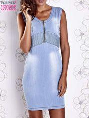 Jasnoniebieska denimowa sukienka z suwakiem