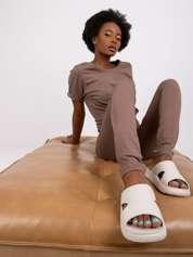 Kawowe legginsy Basic