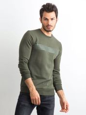Khaki bluza męska z aplikacją