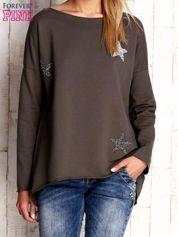 Khaki bluza z błyszczącymi gwiazdkami