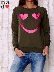 Khaki bluza z motywem emoji