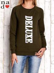 Khaki bluza z napisem DELUXE