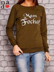 Khaki bluza z napisem MAM FOCHA