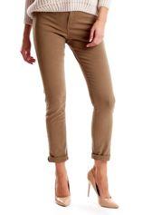 Khaki spodnie damskie o prostym kroju