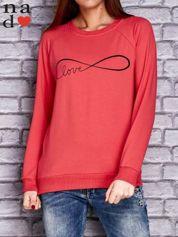 Koralowa bluza z napisem LOVE