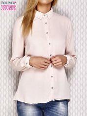 Koszula z ozdobnymi guzikami jasnoróżowa