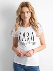 Koszulka damska z napisem biała