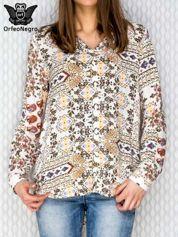 Kremowa koszula we wzory