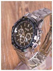 M&H -Klasyka i elegancja srebrny męski zegarek na bransolecie