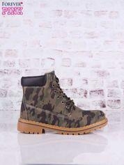 Moro buty trekkingowe damskie traperki ocieplane z jasnobeżową podeszwą i ciemną cholewką Camo