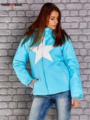 Niebieska kurtka narciarska z motywem gwiazdy FUNK N SOUL