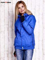 Niebieska ocieplana kurtka narciarska z kapturem FUNK N SOUL