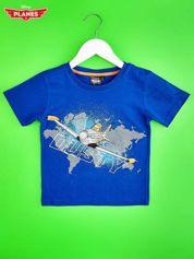 Niebieski t-shirt chłopięcy SAMOLOTY
