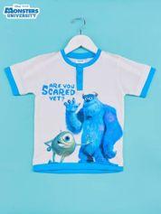 Niebieski t-shirt chłopięcy UNIWERSYTET POTWORNY