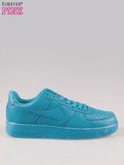 Niebieskie buty sportowe faux leather Your Move na grubej podeszwie