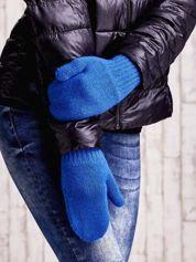 Niebieskie gładkie rękawiczki z jednym palcem