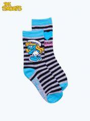 Niebieskie skarpetki dla dziewczynki SMERFY