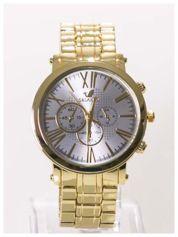 ORLANDO Elegancki złoty męski zegarek na bransolecie