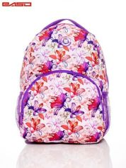 Plecak szkolny dla dziewczynki motywy roślinne