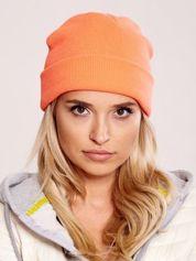 Pomarańczowa neonowa czapka beanie