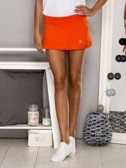 Pomarańczowe gładkie spodenki spódniczka tenisowa