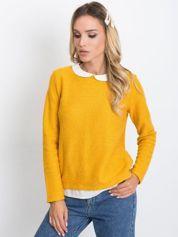 RUE PARIS Ciemnożółty sweter Prestige