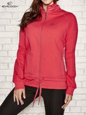 Różowa bluza sportowa fitness z wiązaniem