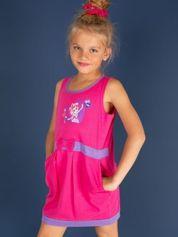 Różowa sukienka dla dziewczynki z kokardką i kieszonkami MY LITTLE PONY