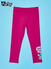Różowe legginsy dla dziewczynki FURBY