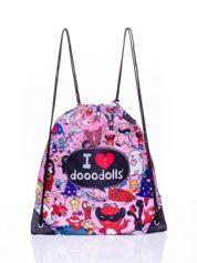 Różowy plecak worek DISNEY Doodolls