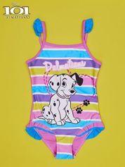 Różowy strój kąpielowy dla dziewczynki 101 DALMATYŃCZYKÓW