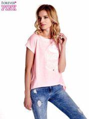 Forever Pink Różowy t-shirt z napisem WASZA WYSOKOŚĆ