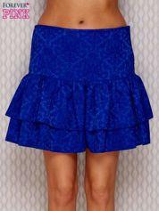 Spódnica w tłoczony wzór kobaltowa