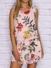 Sukienka damska dzienna z obniżonym stanem różowa