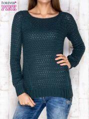 Sweter ciemnozielony z suwakiem