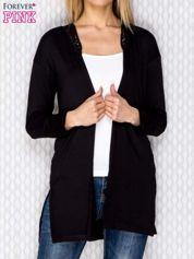 Sweter z koronką czarny
