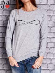 Szara bluza z napisem LOVE
