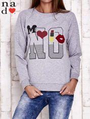 Szara bluza z napisem NO