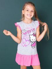 Szara sukienka dla dziewczynki HELLO KITTY