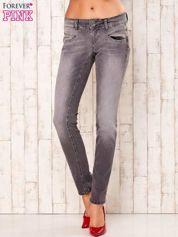 Szare spodnie regular jeans