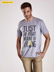 Szary t-shirt męski MINIONKI