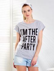 T-shirt damski jasnoszary AFTER PARTY