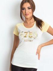 T-shirt z liczbą 72 żółty